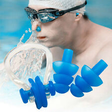Waterproof Soft Silicone Swimming Nose Clip + Ear Plug Earplug Set Useful Tool