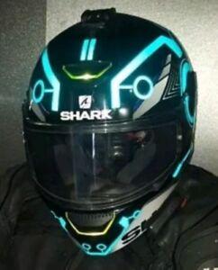 TRON STYLE HELMET STICKERS REFLECTIVE DECALS BE SEEN HI VIZ MOTORCYCLE HELMET DE