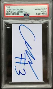 Cole Anthony signed Autograph cut PSA/DNA slabbed Autographed Magic NBA