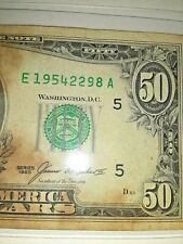SERIES OF 1985 $50 DOLLAR RARE  US Currency UNIQUE 10/12