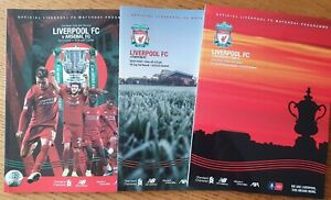 2019/20 - 3 x Cup programmes from Liverpool's Championship Winning Season!!