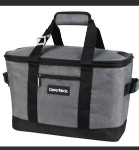 CleverMade SnapBasket 50 Can, Soft-Sided Collapsible Cooler: 30 Liter Insulated