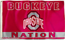 Ohio State Buckeyes 3' x 5' Flag (Buckeye Nation) NCAA Licensed