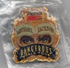 Nice Michael Jackson Pepsi Dangerous World Tour pin - still in original plastic