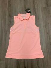 Brand New Slazenger Sleeveless womens golf polo Size Small Pink