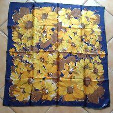 True Vintage Hand Rolled Chiffon Floral Scarf