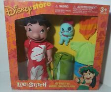 "Disney Store Lilo & Stitch Doll Dress Up Set 11"" Figure toy & clothes NEW RARE"