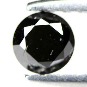 3.2MM Round Natural Loose Black Diamond CERTIFIED Natural Diamond Fancy Black