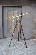 Antique Brass Nautical Telescope with Tripod Large Marine  Telescope