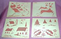 4 SCARCE VTG 1950S MCCALLS SML XMAS STENCILS CRAFTS, CARD MAKING, SCRAPBOOKING