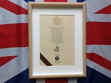 Oath Of Allegiance Durham Light Infantry  DLI (framed with Cap Badge)