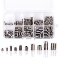 200Pcs 304 Stainless Steel Grub Screws Hex Socket Screw Assortment Kit Set F1S3