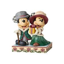 Enesco Disney Traditions Minnie & Mickey Victorian Christmas Figurine