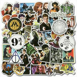 50Pcs Harry Potter Stickers Pack Skateboard luggage Laptop Vinyl Graffiti Decals