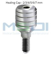 10x Healing Caps - Standard Platform Healing Abutment For Dental Implants 2-7mm