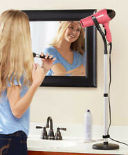 Hands Free Hair Blower Dryer Stand Holder - Adjustable For Hands Free Drying