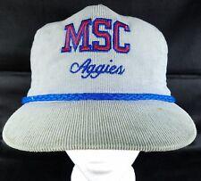 Murray State College Corduroy Hat Vintage Classic Strapback Cap MSC Aggies Okla