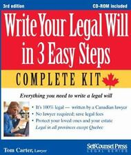 Write Your Legal Will in 3 Easy Steps - CAN: Everything you need to write a...
