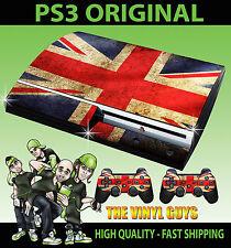 Playstation ps3 vieux forme autocollant Union Jack Drapeau Britannique Peau & 2 pad skins