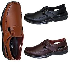 MENS WALKING SUMMER SANDALS DRIVING LOAFERS CASUAL MOCCASINS SHOES