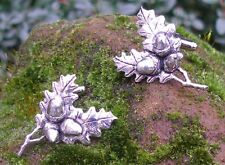 Acorn and Oak Leaf  (tree) Cufflinks in English Pewter, Handmade, Gift Boxed, th