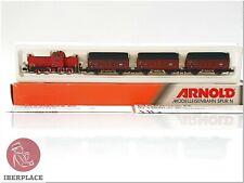 N 1:160 Scale Model Railway Wagons Locomotive Arnold 0268 Set Maxhütte <