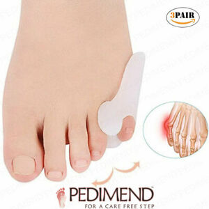 Pedimend Pinky Toe Sleeve - Tailor's Bunion Pain Relief Pads (3PAIR) - Foot Care