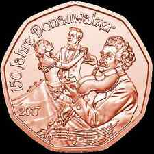 Pièce 5 euros commémorative Autriche 2017 - Valse du nouvel An - Cuivre