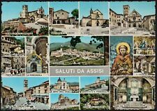 AD4552 Saluti da Assisi (PG) - Vedutine - Cartolina postale - Postcard