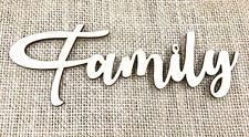 "DIY ""Family"" Cut out Wood Words Wood Wall Decor Custom Cut Dining Room Decor"