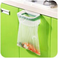Hanging Home Cupboard Cabinet Door Back Stand Trash Garbage Bags Storage Rack CI