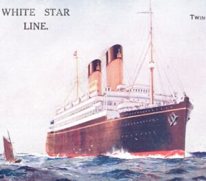 RMS Doric White Star Line steamer cruise liner shipping postcard antique ship