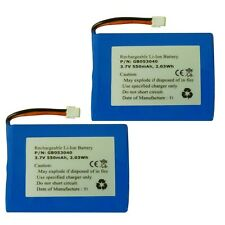 2 x New iDECT X2 X2i M1 Twin Cordless Phone Batteries 3.7v Li-ion MT-LP053040 UK