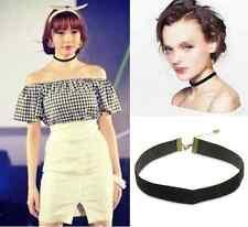 Vintage Velvet Choker Necklace Goth Gothic Handmade Retro Burlesque 90's Black h