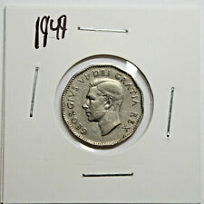 1949 Canada Nickel 5 Cents King George VI Canadian Coin