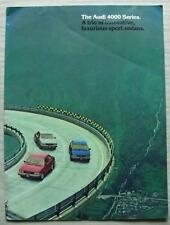 AUDI 4000 Series USA LF CAR BROCHURE DI VENDITA 1981 #W73-881-6031 4000 S 4000 5+5