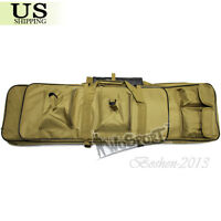 """38"""" Tactical Hunting Heavy Duty Gun Rifle Carrying Padded Case Bag Backpack Tan"""