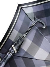 Regenschirm Stützschirm Karo Elegance Farbe Schwarz Weiß Blau 5 Höhenstufen