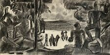 NOEL FEUERSTEIN (1904-1998) SCENE CUBISTE DANS LE GOUT DE SOUVERBIE 1940 (31)
