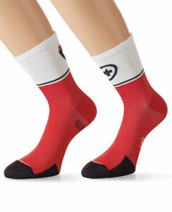 Assos Exploit Socks Evo7 Size 0 EU 35-38 National Red Brand New