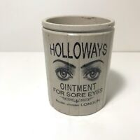 Small Holloways 2 Eye Ointment Pot Victorian Jar Marmalade & Optician Spectacles