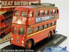 3 AXLE QI TROLLEY BUS LONDON TRANSPORT MODEL BUS 1:76 SCALE CORGI OOC ATLAS K8