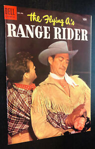 FLYING A'S RANGE RIDER #8 (Dell Comics 1954) -- Golden Age Western -- VF/NM