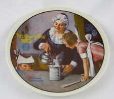 "Knowles-Norman Rockwell-Mother'S Day-1982-""The Cooking Lesson"" plate-Usa-New!"