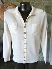 Vintage St John Cardigan Sweater Oldest Label 60's 70's  Logo Buttons L