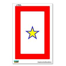 Gold Star Military Service Flag One 1 War Mother Window Bumper Sticker