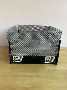 WWF Wrestling Ring Cage Jakks Attitude Titan Match Steel Case