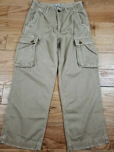 American Eagle Outfitters Mens Cargo Pants 31X32 Distressed Military VTG Khaki