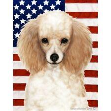 Patriotic (2) House Flag - Apricot Poodle 32016