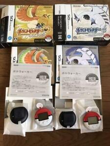Used NINTENDO Pokemon Soul Silver & Heart Gold & Poke walker set Japan